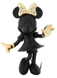 Minnie Welcome Matte Black & Chromed Gold by Leblon Delienne - Limited Edition Sculpture sized 22x24 inches. Available from Whitewall Galleries