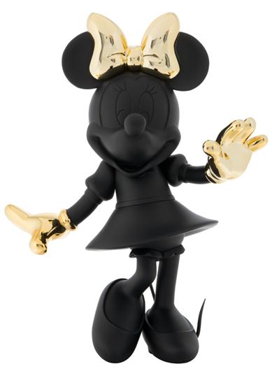 Minnie Welcome Matte Black & Chromed Gold by Leblon Delienne - Limited Edition Sculpture